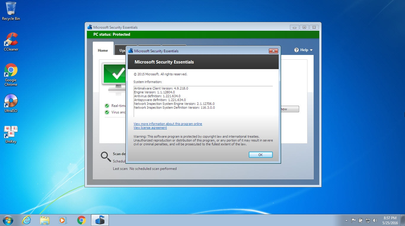 Microsoft Windows users can download Microsoft Security Essentials for free ...  and Windows Vista 64-bit, Windows 7 32-bit and Windows 7 64-bit operating ...